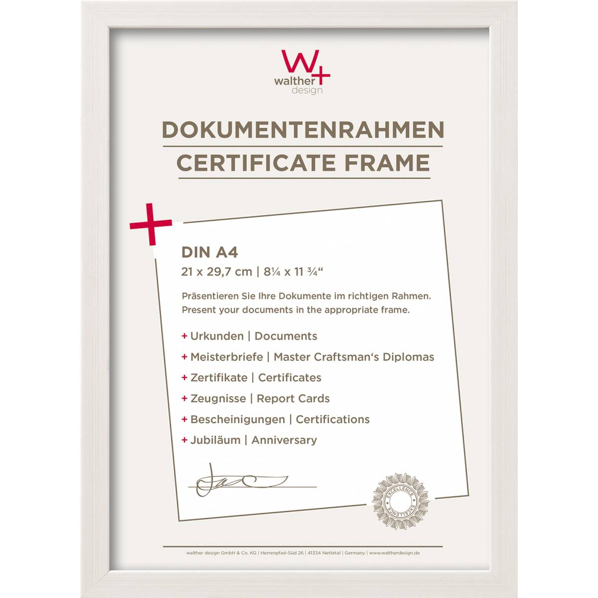Construction PS-Rahmen - walther design GmbH & Co. KG